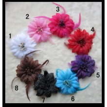 Christmas Promotion Feather Christmas Flower Hair Band, Headband, Hair Accessories, Head flower, Corsage 8-Colors