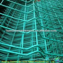 Revestimiento de inmersión verde que protege la cerca soldada del panel 3D