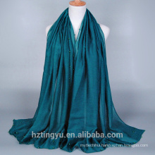Wholesale Solid Plain Hijab Scarf Muslim Women Beaded Hijab Scarf