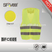children reflective safety vest wholesale ,100% polyester tricot , EN 1150