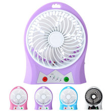 Portable Mini USB Rechargeable Fan with Flash Light