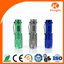 Bright Light Aluminium Alloy 3W étanche Mini Pocket Promotion Torch