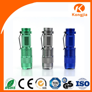 2016 Chinesische Fabrik 3W Oberste verkaufende Aluminium im Freien helle Mini-Fackel-Taschenlampen-Kampieren