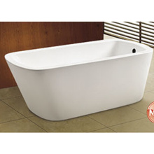 Square One End One Slipper Selfstand Bathtub