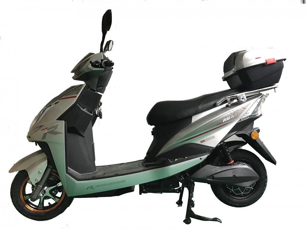 White Alumium Wheel Scooter