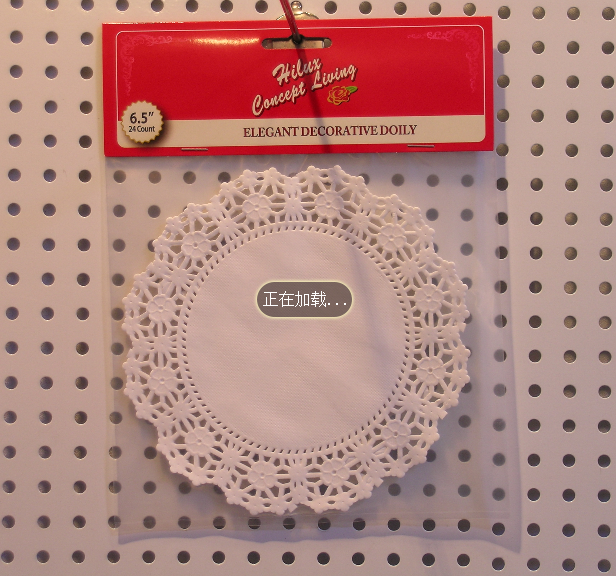 6.5inch food grade paper doily