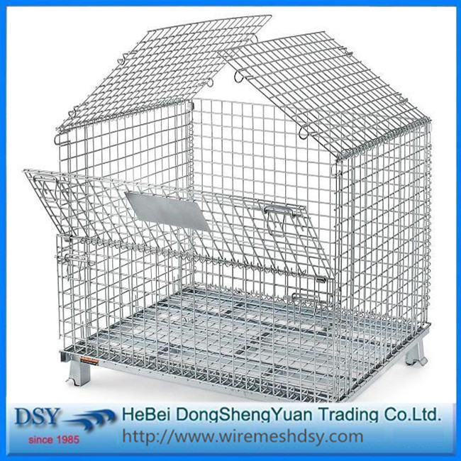 Industry+Foldable+Metal+Wire+Mesh+Storage+Cage
