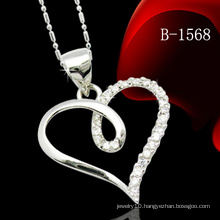 925 Sterling Silver Pendant Heart Pendant with Stone