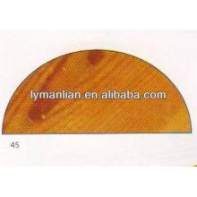 Molduras de adorno de madera de teca media redonda