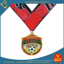China Personalizado imitação de alta qualidade de futebol esmalte ou medalha de futebol em alta qualidade