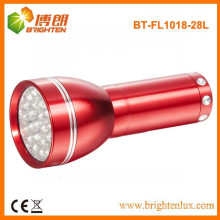 Factory Supply Good quality Cheap Price 28 led Aluminum Small Torch Light with 3AAA Battery