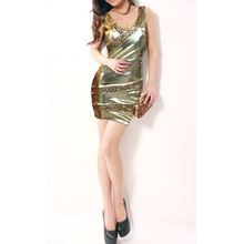 Las nalgas de Sexiness Sequins Women's Dress Paquete de moda