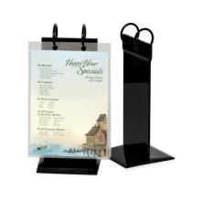 Black Acrylic Menu Holder Display, Fashionable Menu Display