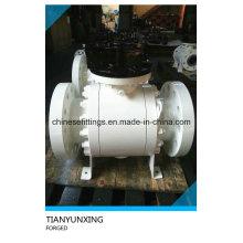 Кованый углеродистый стальной фланцевый API 6D шаровой кран с CE