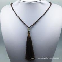 Collar de tejido de diamantes (XJW13765)