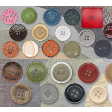 Nuevos botones de resina grande lindo diseño moda venta por mayor