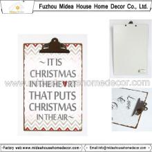 Portapapeles de metal para las ideas de regalos de Navidad