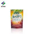 sachet d'emballage de thé à glissière de thé vert