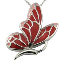 Collar de las mujeres de la mariposa del esmalte de la resina