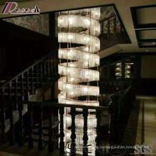 Золотой Кристалл большой размер и современный подвесной светильник с виллы