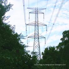 Одиночная электрическая линия 220 кВ оцинкованная башня