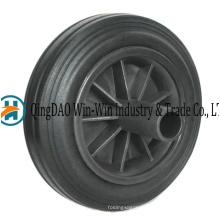 Rodas de borracha de 8 polegadas para lixo de lata de lixo do escaninho de lixo Bin 200 x 50 rodas de migalha de borracha