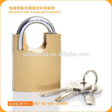 Professionelle Goldene Schäkel Half Protected Computer Key Vorhängeschloss