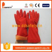 Gants de latex de Ddsafety long manchette CE (DHL610)
