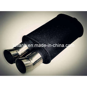 Exhaust Muffler Black Painting With DTM Tips