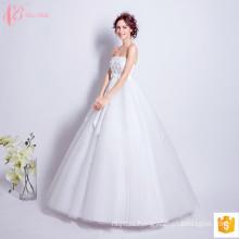 2017 Роскошные Дешевые Sexy Бальное Платье Бантом Свадебные Платья Сделано В Китае С Плеча