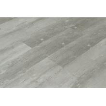 Revêtement de sol en planches à déclic de vinyle LVT gris