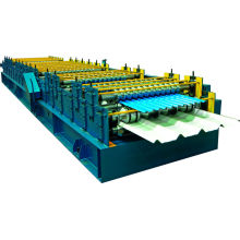 Colored glazed simple double layers roll forming machine