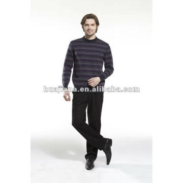 stylish Men's formal cashmere sweater round neck