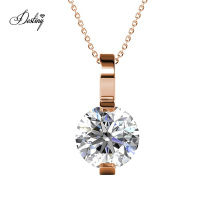 High Quality Premium Austrian Crystal Jewelry Solitaire Amia Stone Pendant Necklace for Women