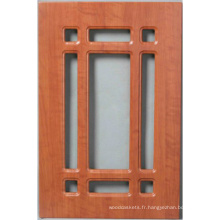 Porte de placard de cuisine de PVC (HLpvc-9)