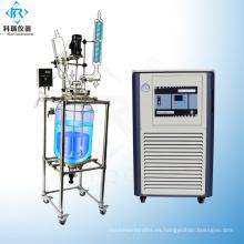Reactor de flujo de tapón de condensador de reflujo de vidrio de borosilicato 50L