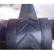 Typen Chevron Gummi Förderband für steile Schrägförderung Fördertechnik