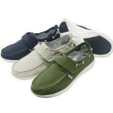 Classic Popular Men′s Shoes Magic Tape Canvas Shoes Comfort Shoes