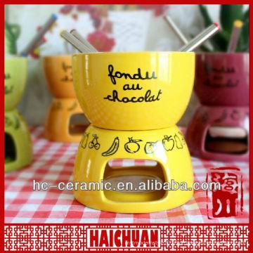 Keramik Schokolade Fondue, Mini Fondue Set Qualität Wahl