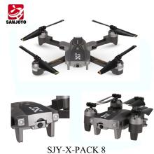 Mais recente Óptico fluxo posição folldable drone with1080P wifi grande angular câmera 3D flip modo de jogo VR SJY-X-Pack 8