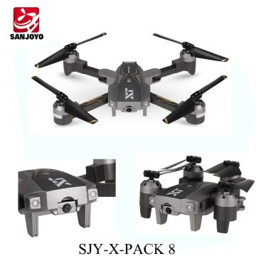 Le plus récent optique position folldable drone avec1080P wifi caméra grand angle 3D flip Mode de jeu VR SJY-X-Pack 8