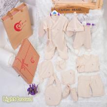 Roupa do bebê do algodão orgânico de 10PCS para o presente com projeto bonito feito em China