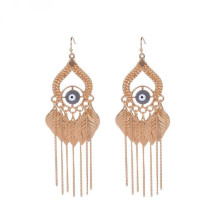 Fashion Indian Evil Eye Gold Quasten Ohrring