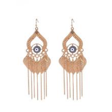 Мода индийской злой глаз золото кистями серьги