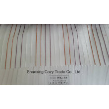 New Popular Project Stripe Organza Voile Sheer Curtain Fabric 008260