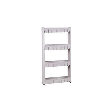 4 Layer Slide Out Storage Tower Shelf with Wheels