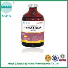 Shuanghuanglian Oral Liquid, hochwertige Behandlung von Influenza Tierarzneimitteln