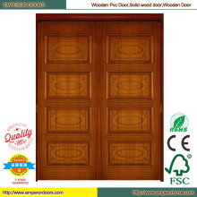 Puerta de madera compuesta puerta de madera bajo pintura puerta madera
