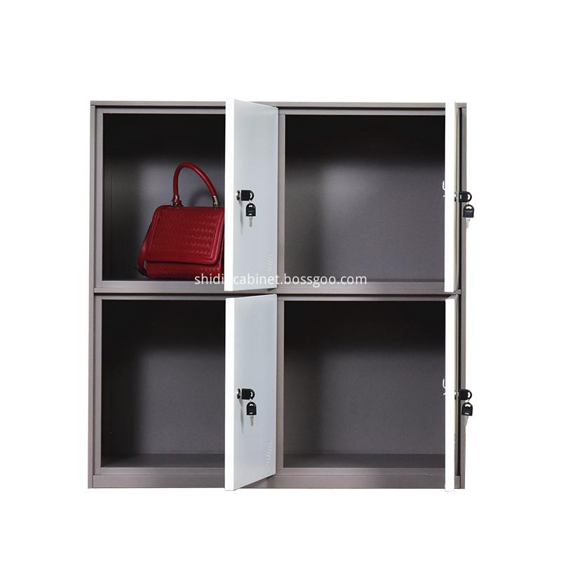 Custome Metal 2 Tier 4 Door Storage Cabinet