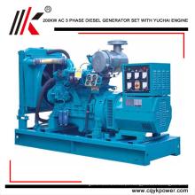 De porcelana 200kw / 250KVA Para que o gerador diesel com YC6M350L-D20 gerador de motor precio dinamo